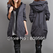 2013 Women's plus size high waist Clothing , women's autumn trench outerwear