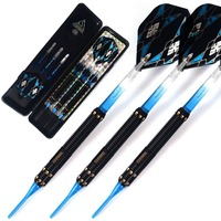 Cuesoul 15 Grams Soft Tip Brass Barrels Darts Set With Aluminum Shafts And Case Free Shipping