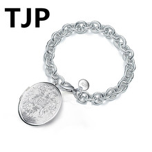 TJP Popular Photo Frame Memento Female Bracelets Accessories Fashion Silver 925 For Women Party Engagement Jewelry