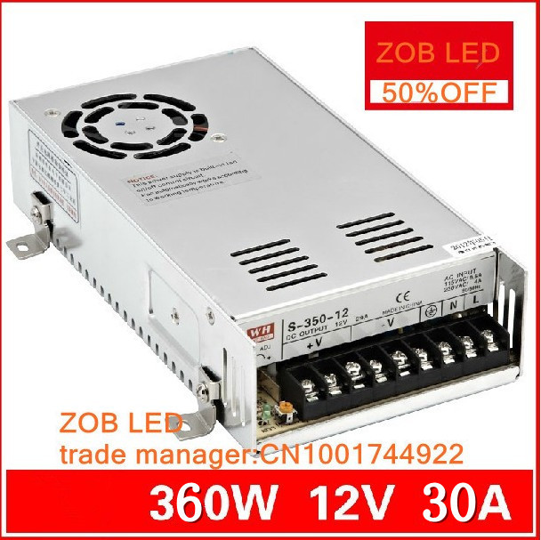 FREESHIPOING 360W LED Switching Power Supply,85-265AC input,12V 30A,For LED Strip light, power suply CE ROSH 12 Output 480w 500w led switching power supply 12v 40a power supply 12v output 85 265ac input free shipping
