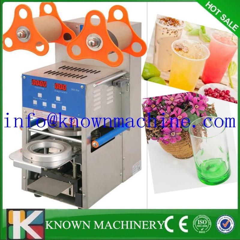 Electric Automatic Plastic Tea Cups Sealer Sealing Machine 220v Juice Sealer