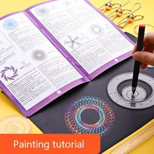 Image 4 - 27 Chiếc Bộ Vẽ Họa Tiết Spirograph Bộ Đồ Chơi Ảo Thuật Tranh Bản Mẫu Hình Học Thước Sáng Tạo Đồ Chơi Giáo Dục Cho Trẻ Em Người Lớn
