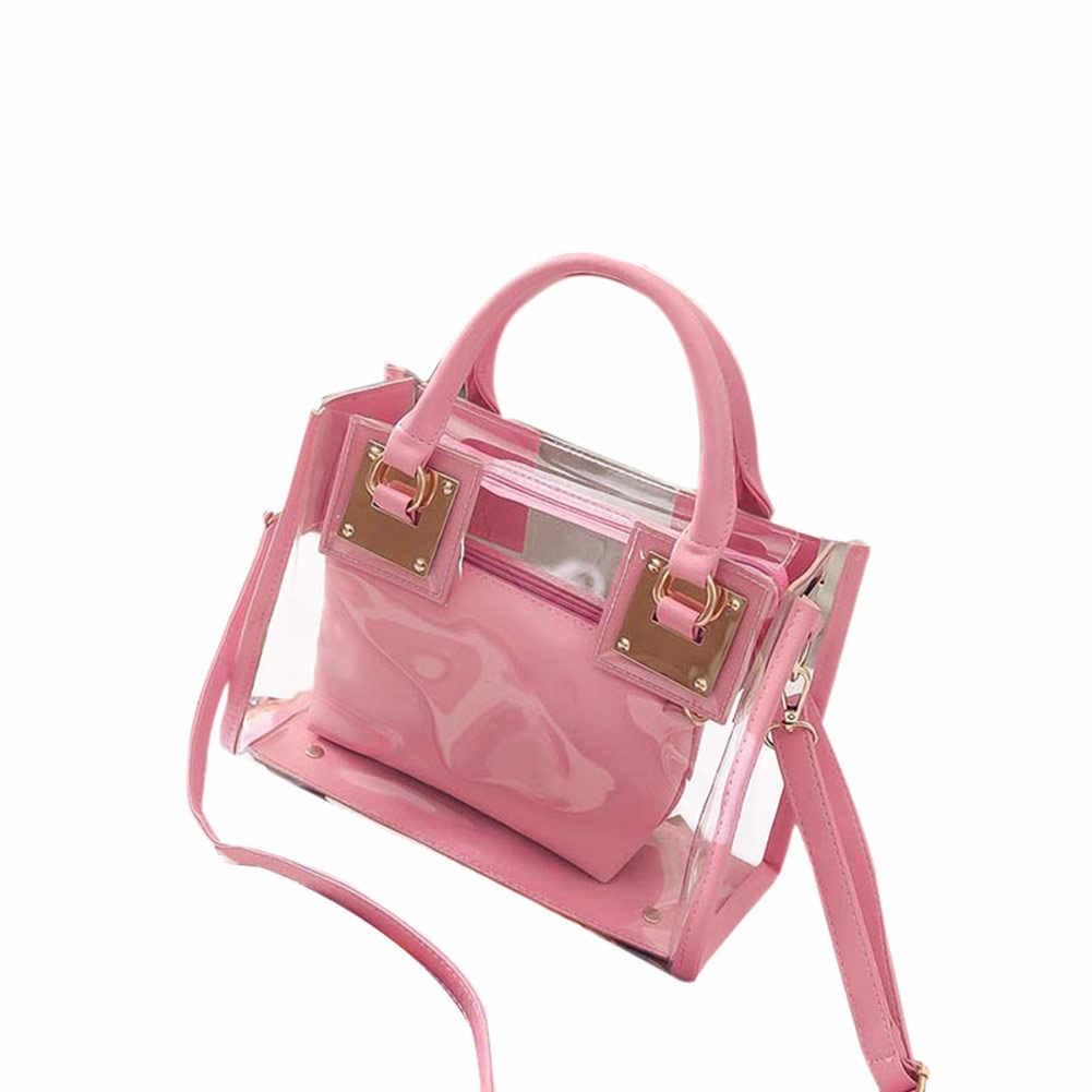 0b5677e828ba ... Модные женские туфли прозрачные сумка желе конфеты летние пляжные сумки  Курьерские сумки сумка женская FA $