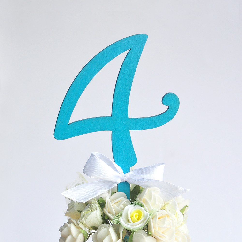 Blue Rustic Wedding Table Numbers with bow Stick Table numbers Wedding Table Decor 10 PCS