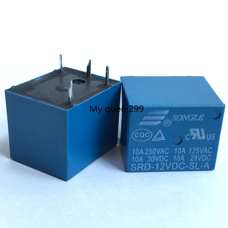 HTB1k2GXcAKWBuNjy1zjq6AOypXaV - 5PCS/lot Relays SRD-12VDC-SL-A 12V 10A 250VAC 4PIN T73