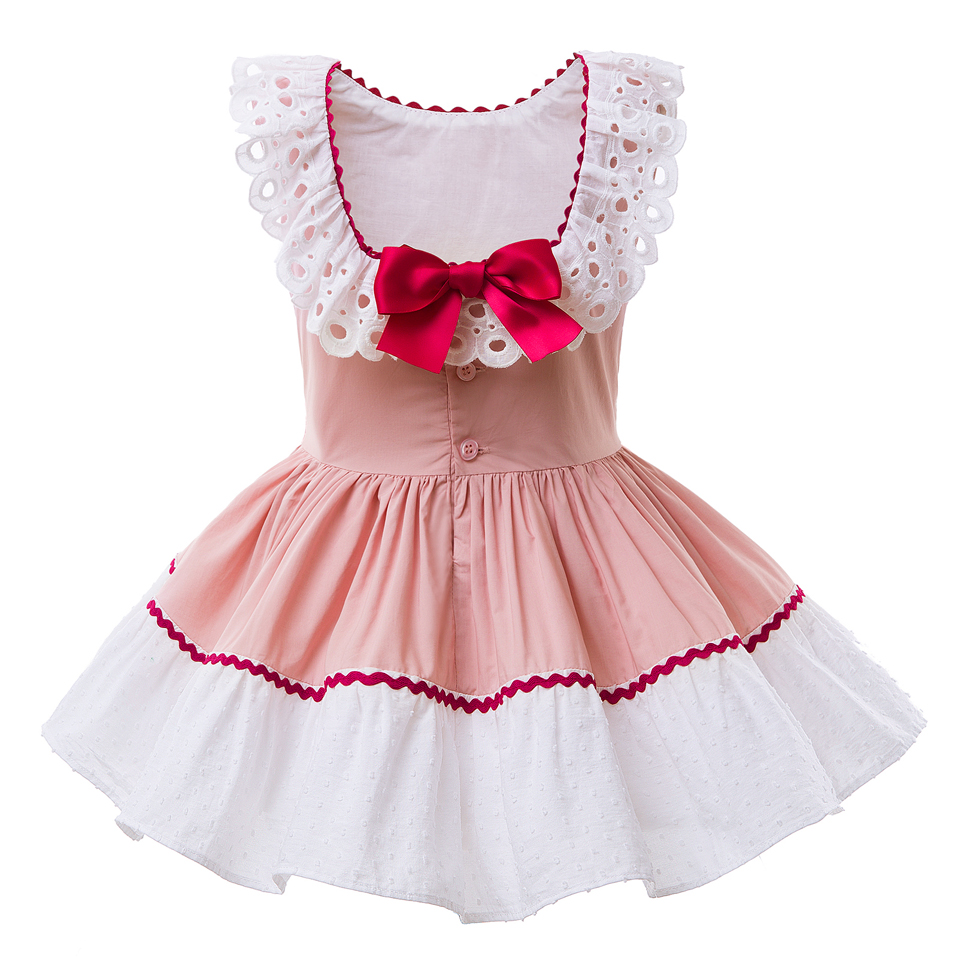 Pettigirl 2018 Pink Girl Dress Sleevesless Pageant Dresses Children Costume  Kids Clothing With Double Red Bows G DMGD101 B181-in Dresses from Mother    Kids ... b65ea8599283