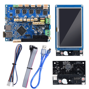 цена на Cloned Duet 2 Wifi V1.04 Motherboard Duetwifi + External Expansion Board 4.3'' PanelDue Touch Screen RepRap for CNC 3D Printer