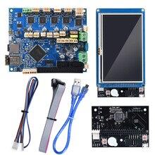 복제 된 Duet 2 Wifi V1.04 마더 보드 Duetwifi + 외부 확장 보드 4.3 paneldue 터치 스크린 3D 프린터 부품 RepRap CNC