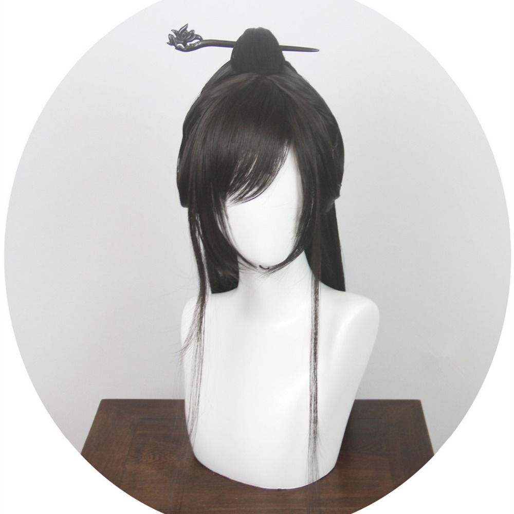 Costumes & Accessories Novelty & Special Use 80cm Black Chinese Ancient Hair For Men Shaped Ancient Dynasty Hair For Men Warrior Cosplay Accessories