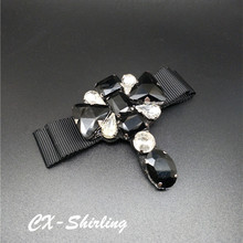 CX-Shirling Women Antique Brooch Pins High Quality All Match Fabric Crystal Waterdrop Pin For Dress Outwear Female