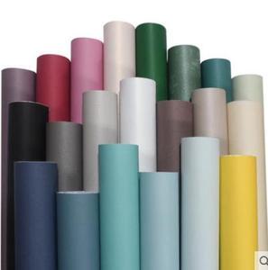 Image 5 - Papel tapiz no tejido de alta calidad, color sólido simple, blanco y negro, gris, cálido, para dormitorio, dormitorio, sala de estar, Fondo de TV papel tapiz