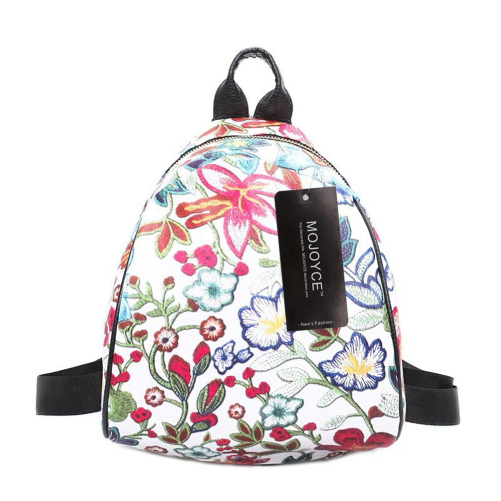 2018 Hot Sale Women Backpack Fashion Causal Floral Printing Backpacks PU Leather Backpack Female For Teenagers Girls Women