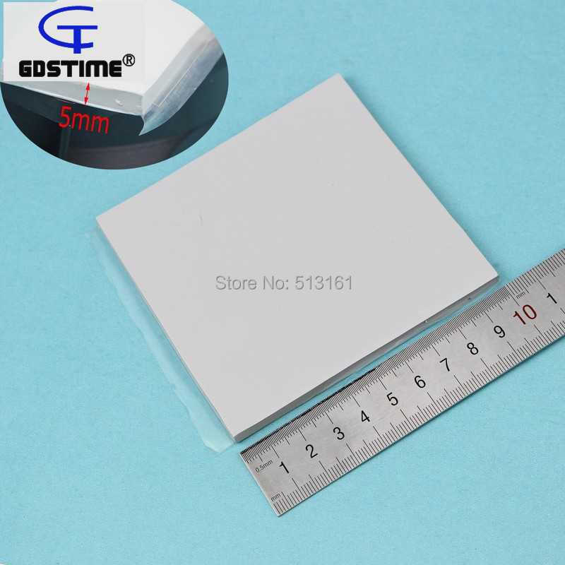 Купить с кэшбэком 5Pcs Gdstime Cooling Silicone Conductive Pad Thermal Pads 100mm x 100mm x 5mm