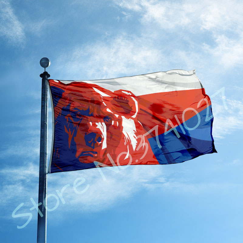 RED TESLA FLAG 3x5FT 90x150CM