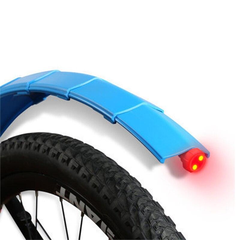 Garde-boue pliant télescopique vtt garde-boue avant arrière ailes de garde-boue de vélo à dégagement rapide avec accessoires de vélo de feu arrière