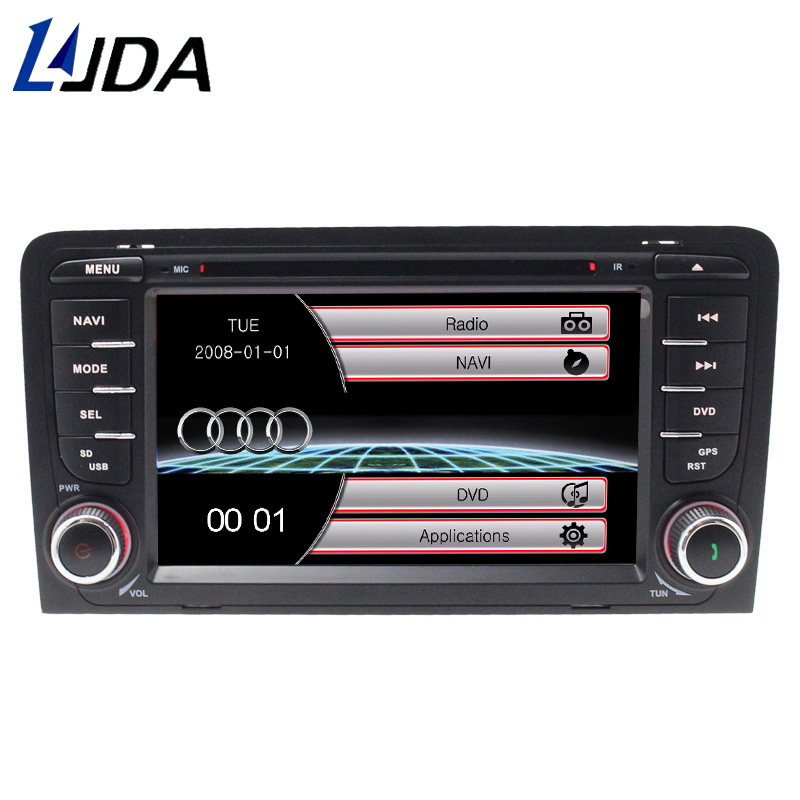 LJDA 2 din 7 inch Car Multimedia DVD Player For Audi A3 RS3 2003-2011 Auto Radio GPS Navigation Steering Wheel control FM MAP SD ...