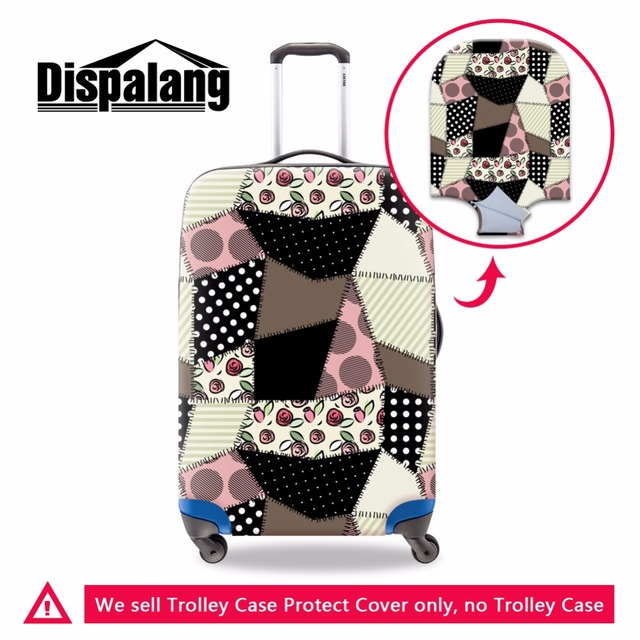 Dispalang Fabric print Luggage Cover Plaid Suitcase Cover Elastic Luggage Protective Waterproof Suitcase Protectors for 18-30""