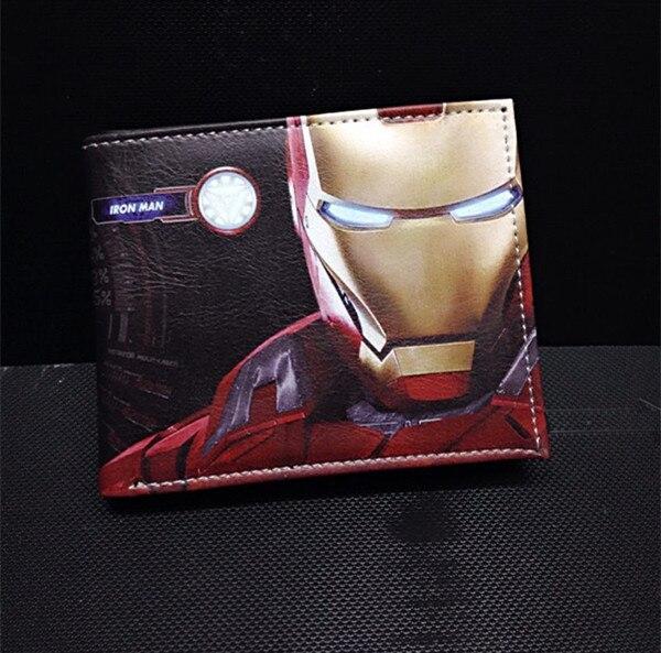 Iron Man Comic Wallet Avenger Alliance Aegis Bureau Steel Chivalrous Wallet Male PU Leather Card Holder Coin Pocket PurseIron Man Comic Wallet Avenger Alliance Aegis Bureau Steel Chivalrous Wallet Male PU Leather Card Holder Coin Pocket Purse