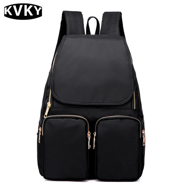 KVKY New Fashion Women Backpack High Quality nylon Waterproof Backpack School bag For Teenage Girls Back Pack Travel bag mochila