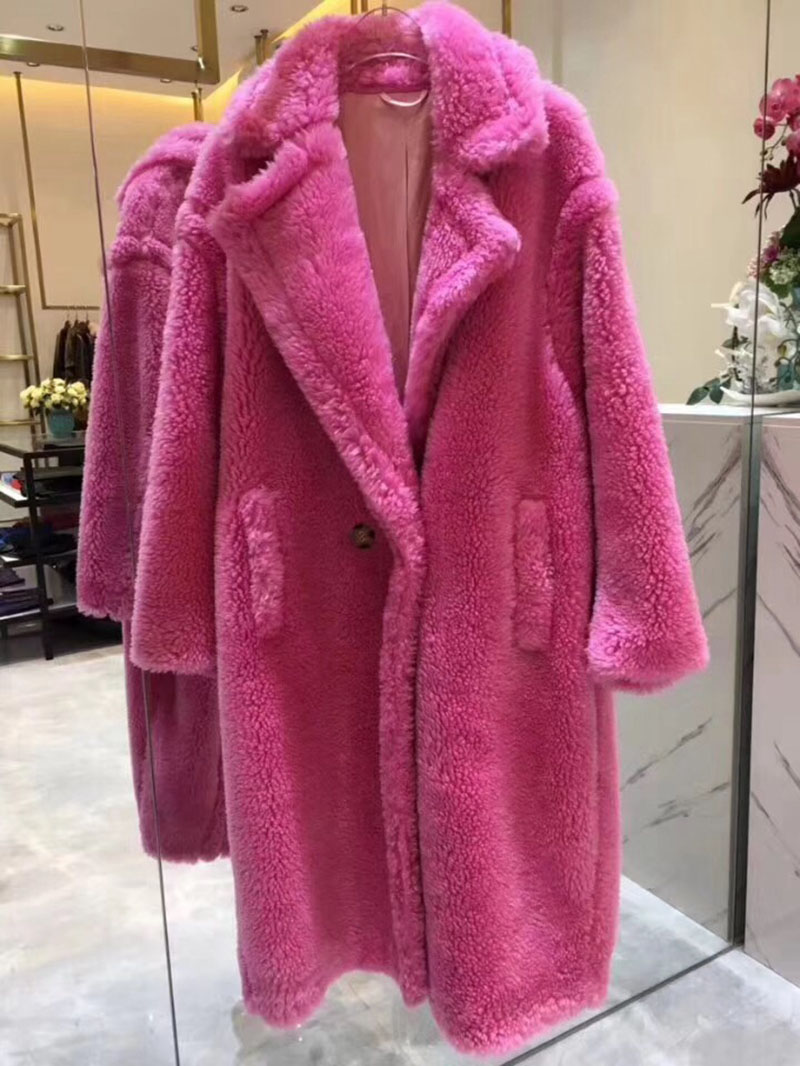 5c0948cebc13 6  Women s Real Wool Teddy Coat Fashion Style Winter Thick Warm Long ...