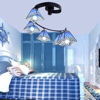 Led e27 Mittelmeer Eisen Glas Led lampe. LED Licht. Deckenleuchten. Led deckenleuchte. Deckenleuchte für Foyer Schlafzimmer Foyer-in Deckenleuchten aus Licht & Beleuchtung bei