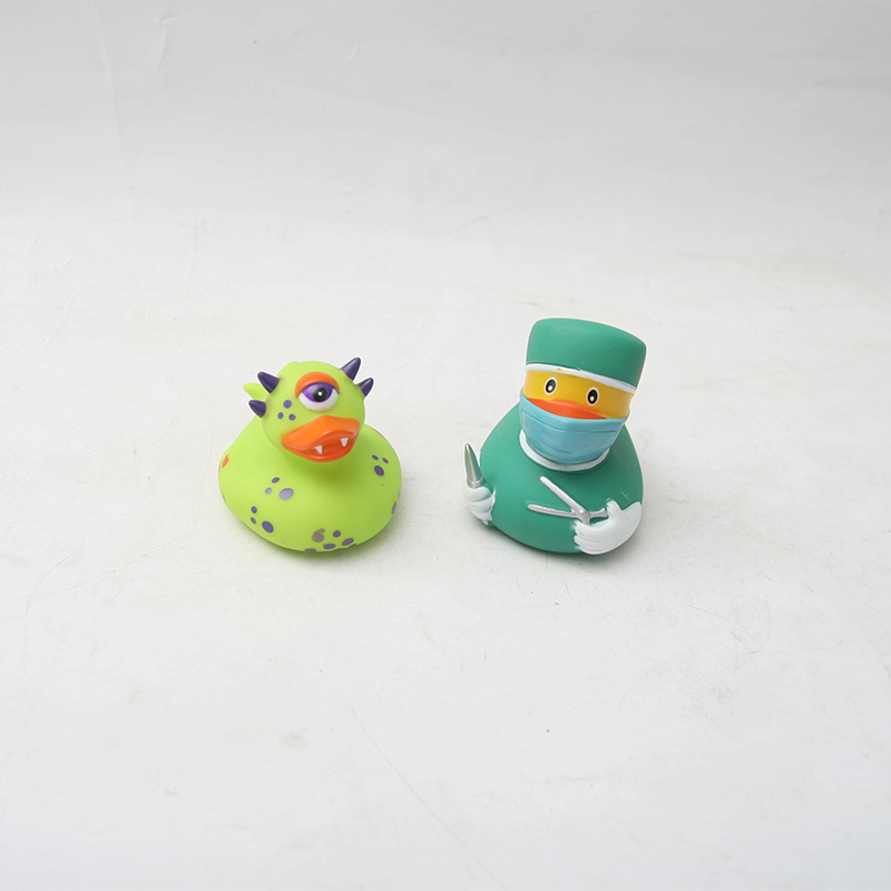 2pc/lot Bath Toys Shower Water Floating Squeaky Blue Rubber Ducks Baby Toys Water Toys Floating Duck