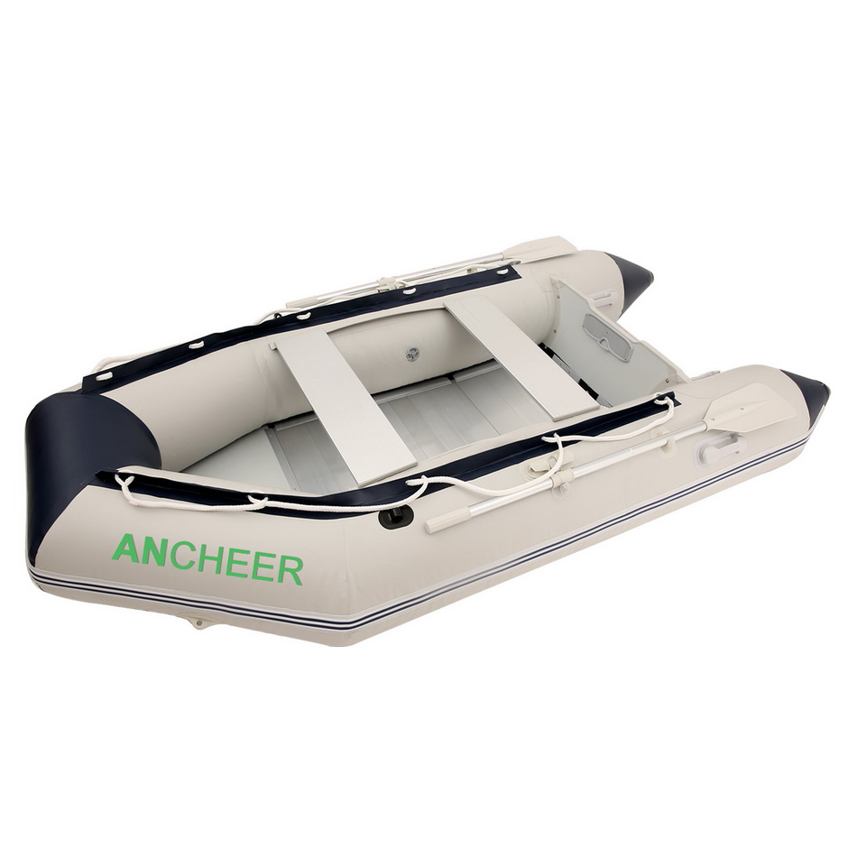 Ancheer 4 Person 3m fishing boat Inflatable Boat Dinghy Boat Yacht Pneumatic Boat, kayak, a pair oars,1 Foot pump, repair patch