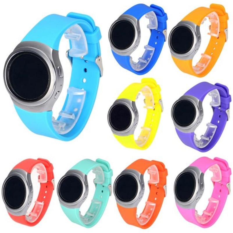 Fashion Luxury Women Men Silicone Watch Band Strap For Samsung Galaxy Gear S2 SM-R720 Sport Watches luxury silicone watch replacement band strap for samsung gear fit 2 sm r360 wristband 100