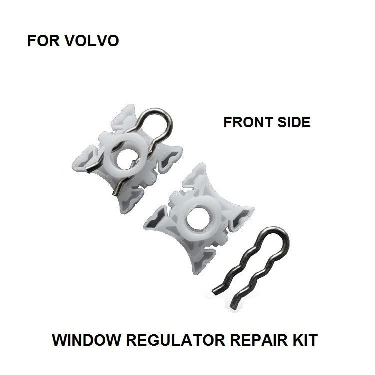 RIGHT 4 pieces 940 960 S60 S80 V70 XC90 WINDOW REGULATOR SLIDER CLIPS LEFT
