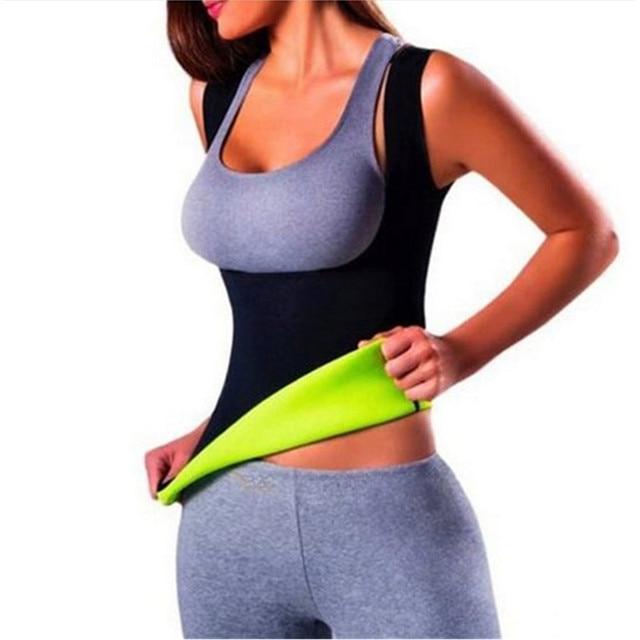 ebb48abae5024 Plus Size Neoprene Sweat Sauna Hot Body Shapers Vest Waist Trainer Slimming Vest  Shapewear Weight Loss Waist Shaper Corset