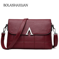 New Summer Fashion Women Leather Handbags Plaid Female Small Messenger Bags Luxury Handbags Women Bags Designer