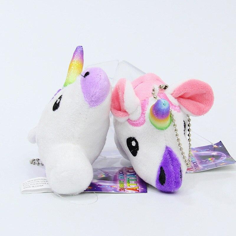 2019 Newest Arrivals Hot Babies Unicorn Horse Plush toy keycha Keyring Bag Charm Pendant Color Lovely christmas elf Unicornio in Plush Keychains from Toys Hobbies