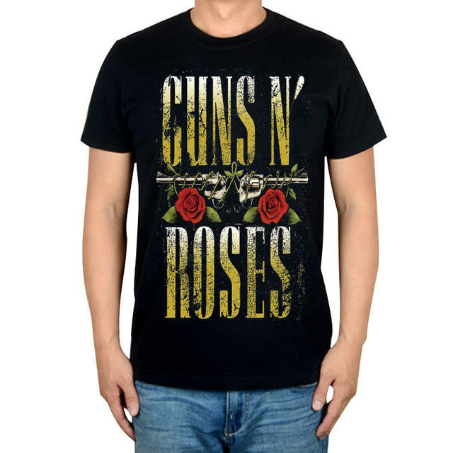 US $24 0 |Free shipping Guns N' Roses metal hard rock punk 90s pop music  black new T shirt-in T-Shirts from Men's Clothing on Aliexpress com |  Alibaba