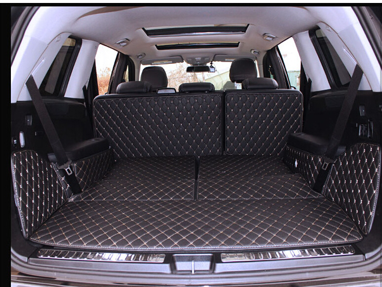 New! Special trunk mats for Mercedes Benz GL 350 X166 7seats 2016-2013 waterproof boot carpet liner for GL350 2015,Free shipping auto cargo liner trunk mats for bmw x5 f15 x5m xdrive 2014 2017 boot mat high quality new embroidery leather free shipping