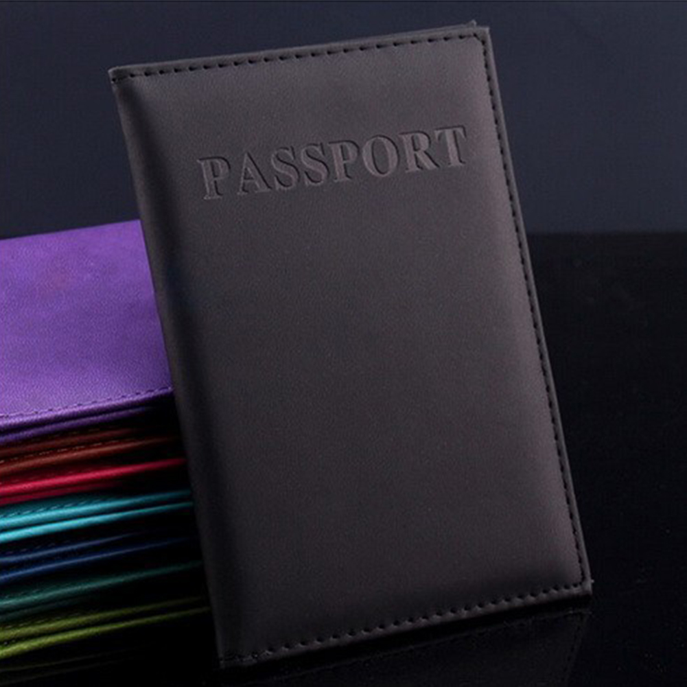 New Passport Cover PU Leather Women Passport Holder Women\'s Travel Passport Cover Unisex Card Case Man Card Holder Wallet