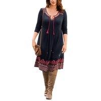 Summer Dress Women Plus Size 4Xl 5Xl 6Xl Clothing Vintage Dresses Robe Female Print Black Dress