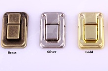 50PCS/LOT Latch Latches Clasp Buckle Hasp For Jewelry Chest Gift Wine Music Box Dollhouse