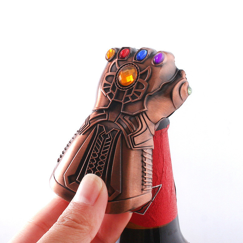 Thanos Gauntlet Glove Beer Bottle Openers Thanos Fist Shaped Bottle Opener Jar Openers Cosplay Model Figure Gift
