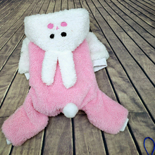Купить с кэшбэком Autumn Winter Pet Dog Clothes Cotton Cute Pink Puppy Sweater Teddy Coat Dachshund Pull Pour Chien Hundepullover Pets 5d0095