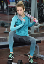 Women Sport Running Pants Gym Tights Pants for Fitness Female Clothes Quick Drying Trousers Elastic Capris Ropa Deportiva