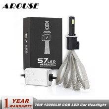 AROUSE S7 Car LED Headlight Braid Radiating 12000LM/Pair Lamp Auto Bulb Light H1 H3 H27 H7 H11 HB3 HB5 9006/HB4 H4 H13 HB1 880