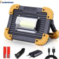 100 W COB Lampada Da Lavoro A LED Lanterna Portatile Impermeabile 4-Modalità Di Emergenza Riflettore Portatile Ricaricabile Proiettore per la Luce Di Campeggio