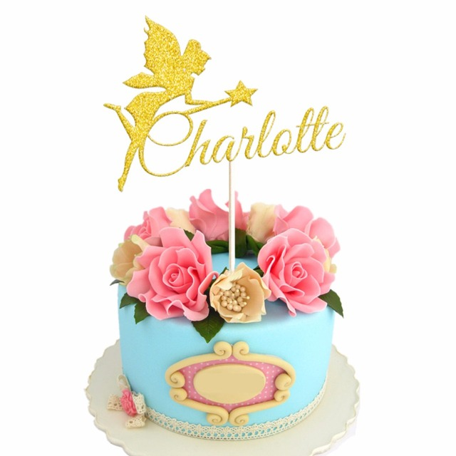 1pcs Personalized Custom Girl Girlfriend Name Cake Topper Angel with