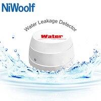 Detector de fugas de agua inalámbrico Niwoolf de 433 MHz  Sensor de fugas de agua para nuestro sistema de alarma Wifi/GSM antirrobo para el hogar de 433MHz|Sensor y detector| |  -