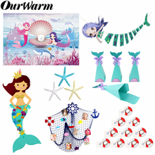 OurWarm Little Mermaid Party Supplies Under The Sea Decor Kids Birthday Favor Game Nautical Decoration Guest Gifts