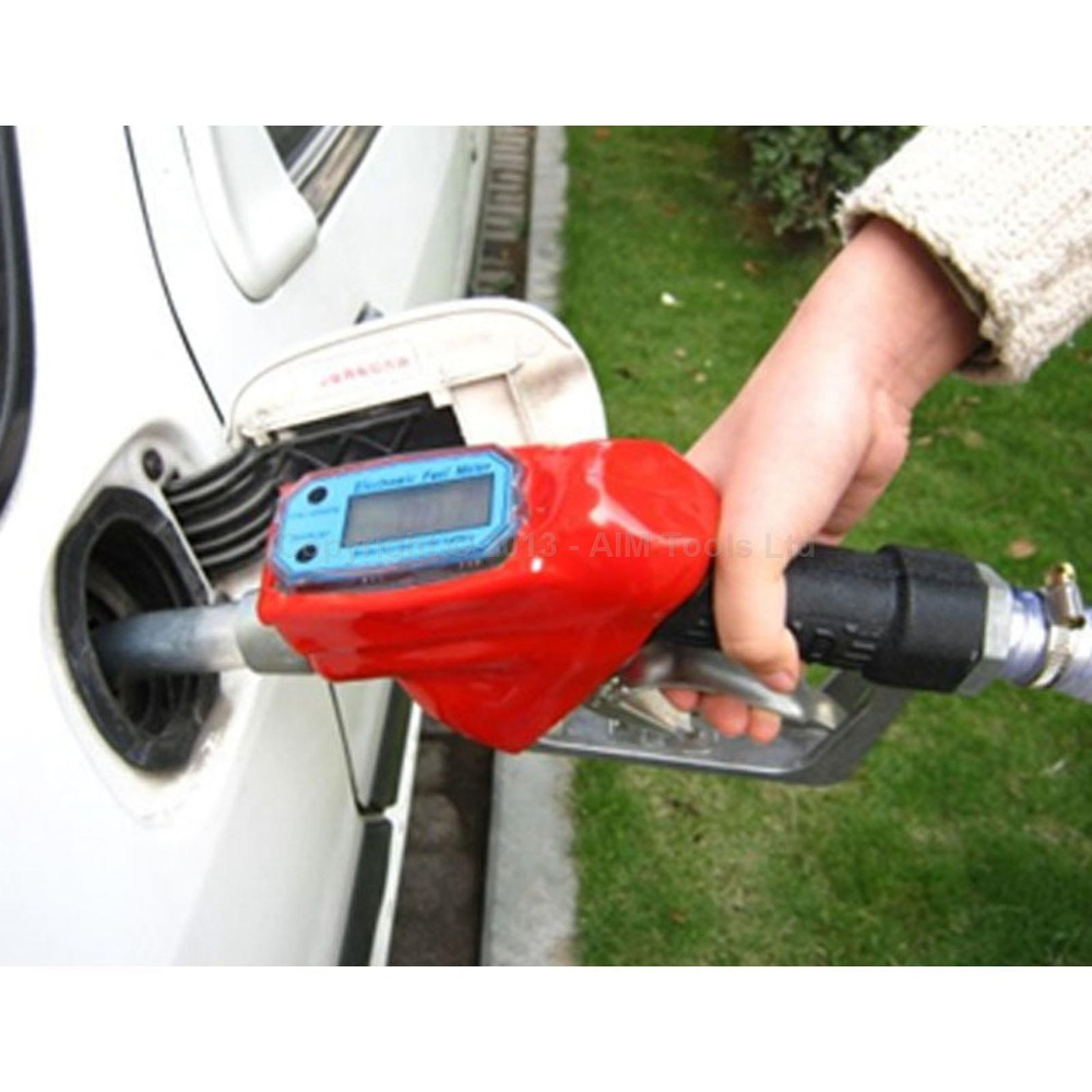 Fuel Gasoline Diesel Petrol Delivery Gun Nozzle Dispenser With Flow Meter fuel gasoline diesel petrol oil delivery gun nozzle turbine digital fuel flow meter lpm liter