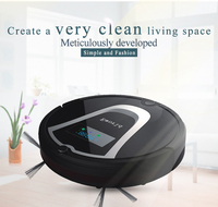 Eworld M884 Robot Vacuum Cleaner With Mop Black Vacuum Cleaning Robot For Hardwood Flooring