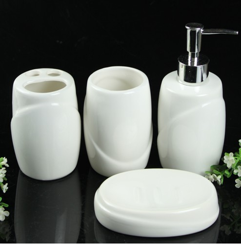 Free Shipping Piece set bathroom toiletries set cup brush set white ceramic bathroom decoration
