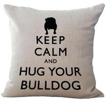 2017 European Style Adorable French Bulldog Dog Series Linen Throw Pillow Case Cushion Cover For Kids Gift