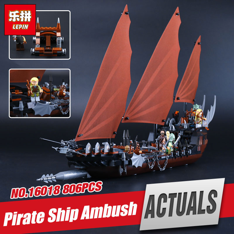 Lepin 16018 Genuine The lord of rings Series The Ghost Pirate Ship Set Educational Building Block Brick Toys Gifts legoing 79008 16018 lepin lord of the rings the ghost pirate ship model building blocks enlighten figure toys for children compatible legoe